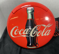 Vintage Coca Cola Lighted Round Red Button Sign Telephone-1997-12""