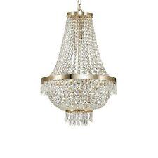 Lampadario in cristallo classico 9 luci collezione Caesar Oro