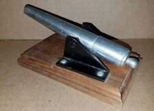 Vintage Cast Metal Desktop Miniature Replica Canon