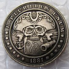 US 1881 Morgan Dollar Pirate Skull Coin