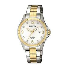 Citizen Ladies Watch with Crystals Model EU6084-57A Stainless Steel 3