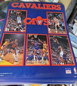Vintage 1989 Cleveland Cavaliers Starline team Poster Mark Price & others 16x20