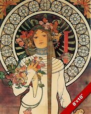 TRAPPISTINE NUN FRENCH ARTIST MUCHA OIL PAINTING ART REAL CANVAS GICLEEPRINT