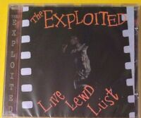The Exploited Live Lewd Lust CD NEW  Punk Dead Cities/Dogs Of War/Warhead+