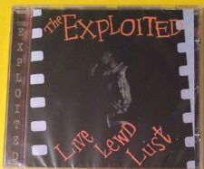 The Exploited Live Lewd Lust CD NEW SEALED Punk Dead Cities/Dogs Of War/Warhead+