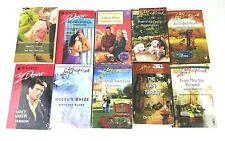 Romance Paperback Book Lot of 10 Harlequin Love Inspired Silhouette Desire
