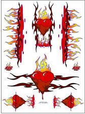 "Sic Designs ""Flaming Hearts"" Sticker Sheet SIC019"