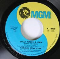 Pop 45 Charles Aznavour - What Makes A Man (Comme Ils Disent) / The Old Fashione