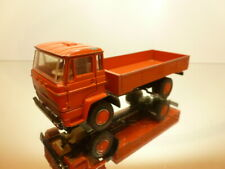 LION CAR DAF 2000 TRUCK FLATBED - ORANGERED 1:50 - GOOD CONDITION