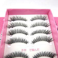 NEW Hot HS5 10 pairs natural cross False eyelashes popular winged eye lashes