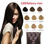 100g Remy Hair ALLUNGAMENTO 53CM EXTENSION 8 FASCIA CAPELLI VERI 100% 17 CLIP