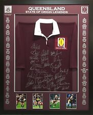 Blazed In Glory - The Queensland Legends - NRL Signed & Framed Jersey