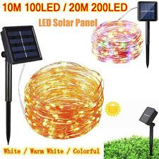 200LED Solar String Lights Waterproof 10/20M Copper Wire Fairy Outdoor Garden !