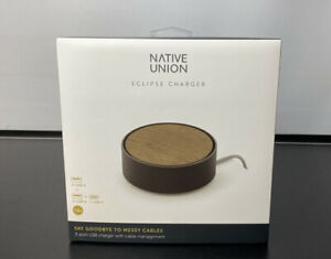 Native Union 3 USB Port Charger Universal Fast Charging Premium No Tangle Dock
