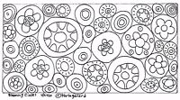 RUG HOOK CRAFT PAPER PATTERN Blooming Circles FOLK ART PRIMITIVE Karla Gerard