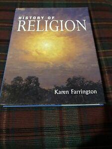 History Of Religion - Karen Farrington - Hardcover With Dustjacket Printed 2000