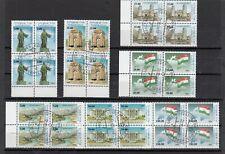 Tadschikistan, Nr. 15 - 21, gestempelt im Viererblock, 64 € Michel