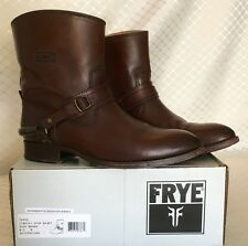 "FRYE Womens ""Lindsay"" Spur Short Dark Brown Leather Boots Size 8.5 B with Box"
