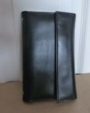 Small Black Smooth Leather Organiser