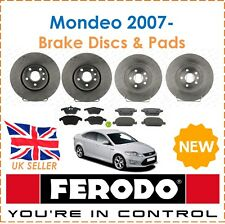 For Ford Mondeo 1.6 1.8 2.0 2.2 2007-  FERODO Brake Discs & Pads Front & Rear