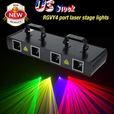 RGBP 760mW Stage Light 4Lens 4 Beam DMX512 DJ Disco Part Show Laser Lighting US