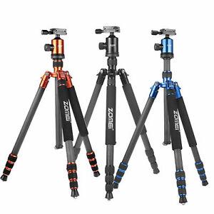 ZOMEi Z818C Portable Carbon Fibre Tripod Extendable Stand For Digital SLR Camera