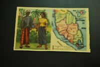 Vintage Cigarettes Card. Federated Malay States. WORLD'S REGIONS