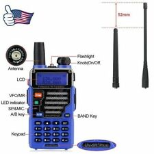 Baofeng UV-5R Plus Blue V/UHF Dual Band FM Ham Two way Radio + 18cm Long Antenna