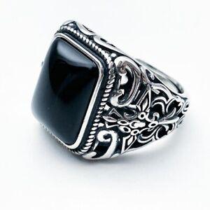 Big Beautiful 925 Sterling Silver Ring Turkish Ring Mens Womens Resizable