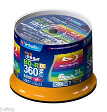 50 Verbatim BD-R DL 50GB 6x Speed Original Packaging Inkjet Printable Bluray