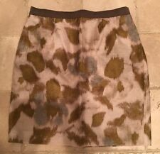 Ann Taylor Loft Wool Blend Red Aline Knee Skirt Womens Petite 6P