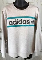 Vintage ADIDAS Trefoil Sweatshirt Mens Crewneck  Spellout  Logo Men XL