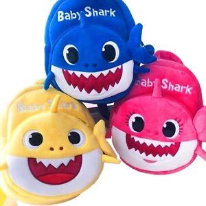 Baby Shark 3-D Cartoon Plush Backpack for little kids