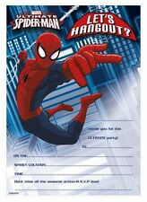Child Character Party Invitations & Thank Yous 20 Sheets Boys Girls Invites Kids