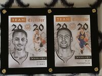 Lot of 2 Panini Excalibur Team 2020 cards Stephen Curry Klay Thompson 2015-16 Pa