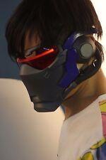 Overwatch OW Soldier 76 Cosplay Luminous Mask Helmet Prop Light-up  LED
