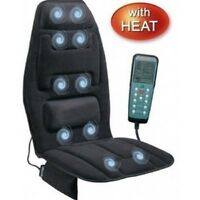 Heated Back Massager Upper Lower Back Lumbar Thighs Neck Pain Home Car Cushion