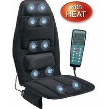 Heated Back Massage Chair Cushion Massager Car Home Office Pad Pain Lumbar Neck