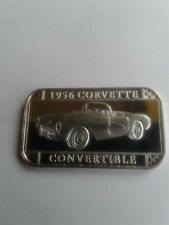 1956  Corvette Convertible Silver Art Bar by Sillvertowne  Gem  Rare