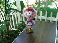 Antique Hand Painted VICTORIAN GONE WITH THE WIND PARLOUR LAMP - GWTW  Oil Lamp