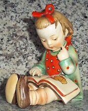 """Hummel Figur Hum 8 """"Der Bücherwurm * Book Worm"""" FM 1 * Kronenmarke * Crown Mark"""