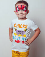 Easter Chicks Love Me kids Tee Baby Boy Girl T shirt Your Name Easter Bunny Top