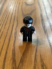 Lego Minifigure Harry Potter, Black Long Coat and Vest, Dark Red Shirt and Tie