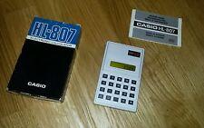 Taschenrechner Casio HL 807 mit OVP und Anleitung 70er Jahre top Zustand