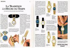 PUBLICITE ADVERTISING 095  1992  PATEK PHIKIPPE collection montres ( 2p)
