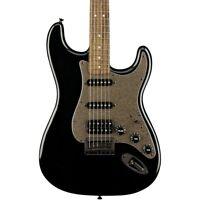Squier Bullet Stratocaster HSS Hardtail LE Guitar Black Hardware Black Metallic