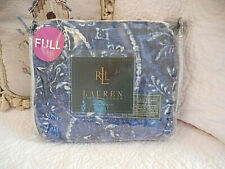�� Ralph Lauren Bed Skirt Seychelles Batik Floral Blue Full Ocean Wash �� Nip