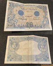 20 Francs Bleu Type 1905 – 23/7/1906 N.680 TB TTB