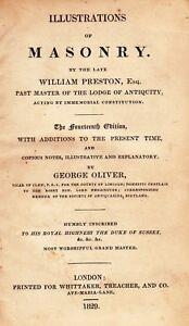 00070. Preston - 'Illustrations of Masonry'  14th Edition London 1829