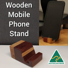 Universal Wooden Mobile Cell Phone Stand Hand Made Wood Woodwork iPhone Samsung